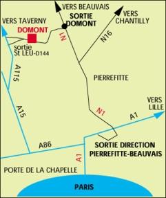 Domont golf du 95 de l 39 annuaire de l 39 ile de france for Restaurant domont 95